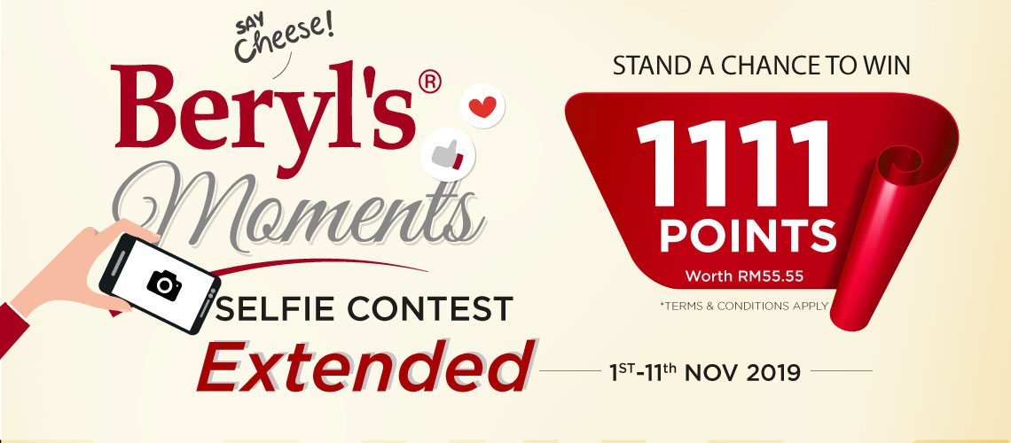 Beryl's Moments Selfie Contest -  Stand A Chance To WIN 1111 Points