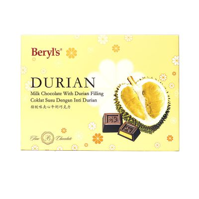 Beryl's Snow Flower Milk Chocolate With Durian Filling 150g