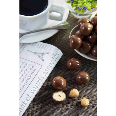 Dragees Secrets - Hazelnut Coated With Caramel Chocolate & Crunchy Biscuit Balls 180g
