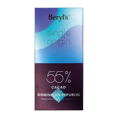 Single Origin 55% Cacao Dark Chocolate 60g - Dominican Republic