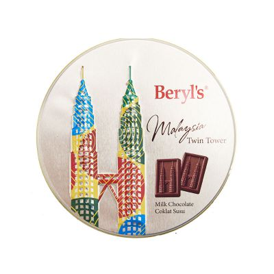 Twin Tower Small Tin Milk Chocolate 80g