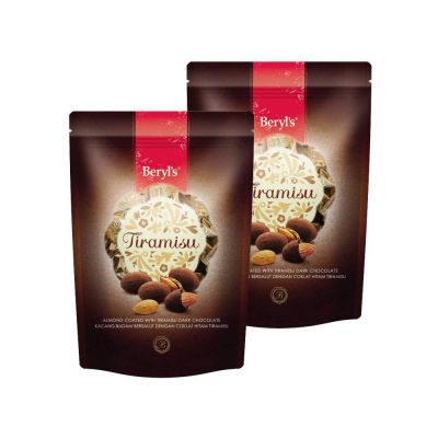 Beryl's Tiramisu Almond Dark Chocolate 300g Twin Pack