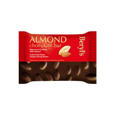 Beryl's Almond Chocolate Bar - Bittersweet Chocolate With Almond 100g