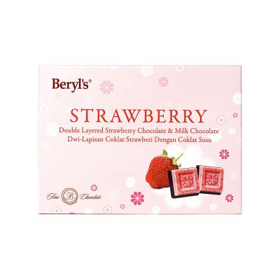 Beryl's Snow Flower Strawberry Double Layered Chocolate 150g
