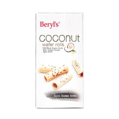 Beryl's Coconut Roll With Black Sesame Seeds Box 75g