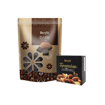 Dark Chocolate 280g + Tiramisu Almond White Chocolate 65g