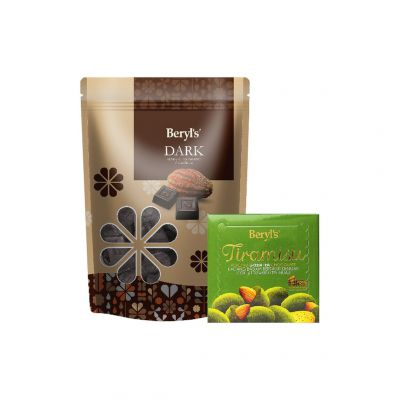 Dark Chocolate 280g + Tiramisu Almond Green Tea Chocolate 65g