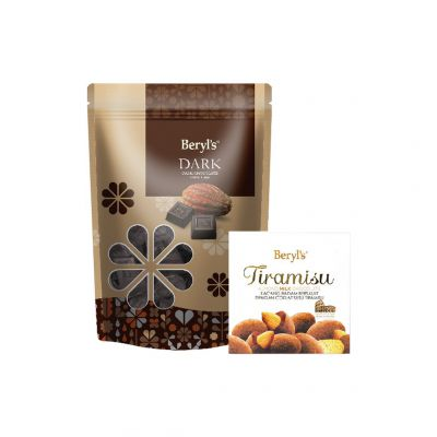 Dark Chocolate 280g + Tiramisu Almond Milk Chocolate 65g