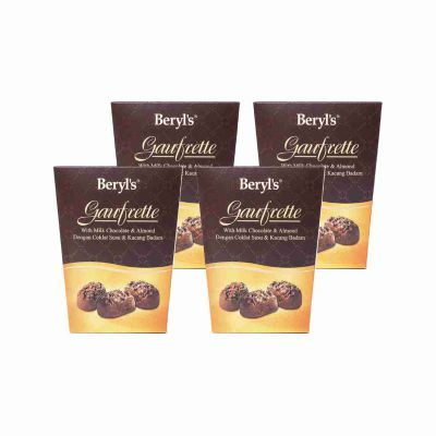 Gaufrette With Milk Chocolate 105g - Pack of 4