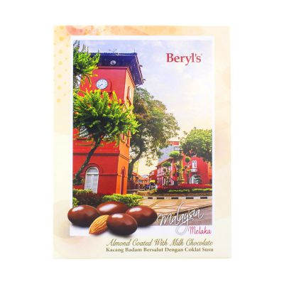 Post Card Melaka Beryl's Almond Coated with Milk Chocolate 110g