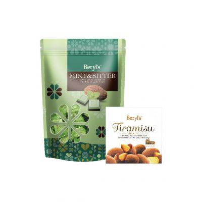 Mint & Bitter Chocolate 280g + Tiramisu Almond Milk Chocolate 65g