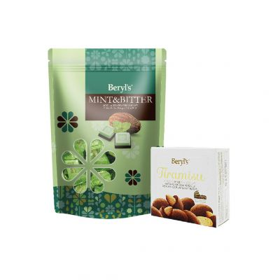 Mint & Bitter Chocolate 280g + Tiramisu Almond Milk Chocolate 65g