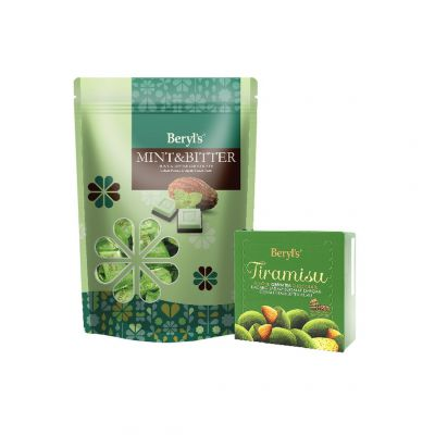 Mint & Bitter Chocolate 280g + Tiramisu Almond Green Tea Chocolate 65g