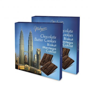 Twin Tower Chocolate Butter Cookies 120g Twin Pack