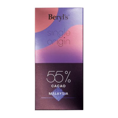 Single Origin 55% Cacao Dark Chocolate 60g - Malaysia