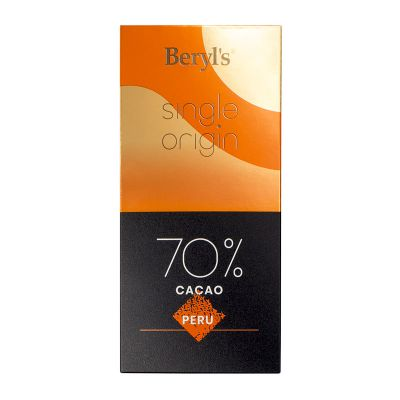 Single Origin 70% Cacao Dark Chocolate 60g - Peru