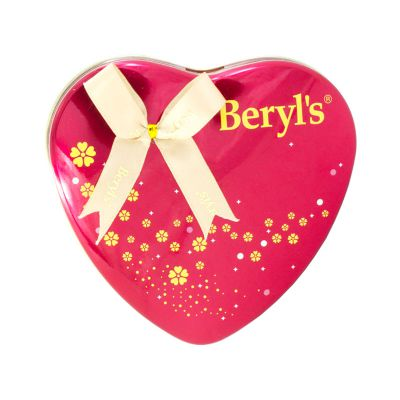 Beryl's Heart Shape Tin Almond Coated With Gianduja Milk Chocolate
