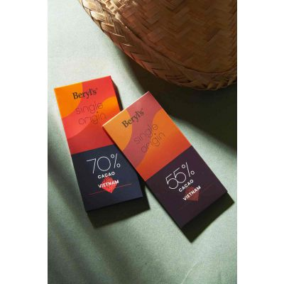 Single Origin 55% Cacao Dark Chocolate 60g - Vietnam