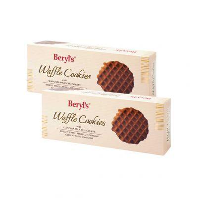 Beryl's Waffle Cookies Gianduja Milk Chocolate 80g - Pack of 2